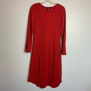 CHAPS COTTON BLEND RED NIGHTGOWN SIZE SMALL